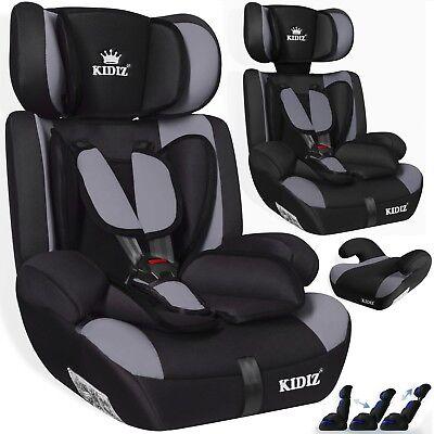 Kidiz® Autokindersitz Autositz Kinderautositz 9-36 kg Gruppe 1+2+3 Sitz Grau