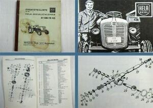 Lanz-Hela-D138-D45-Diesel-Schlepper-Ersatzteilliste-Ersatzteilkatalog