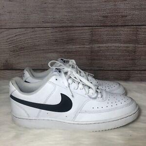 Nike-Shoe-Court-Vision-Low-CD5463-101-Black-White-Mens-Size-11