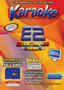 Karaoke Chartbuster Essential 450 Songs SD-Card Vol-2 Country,Standars,R&B,Rock