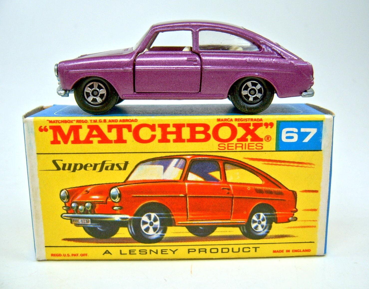 MATCHBOX SF Nº 67 a VW 1600tl D 'violetmetallic Top Dans tôt  G  BOX