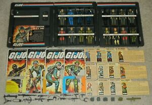 Complete Lot 1982 GI Joe Cobra Straight Arm v1 Figure Accessory Set & File Cards