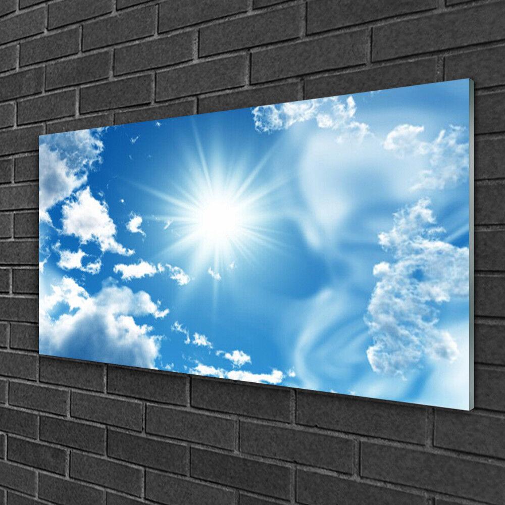 Tableau sur Plexiglas® Image Impression 100x50 Paysage Soleil Ciel