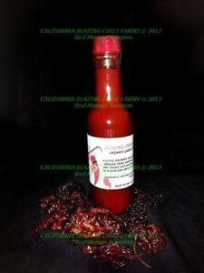 Organic-Ghost-Pepper-Hot-Sauce-SALSA-PICANTE-5-oz-Scorching-HOT-Mouth-Kicking
