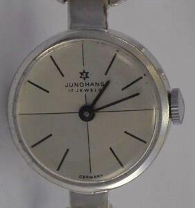 JUNGHANS-17-Jewels-Damenuhr-835-Silber-Handaufzug-Made-in-Germany