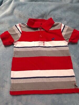 Genuine Kids Toddler Boys 3T Painted Desert Red Stripe Henley Short Sleeve Shirt