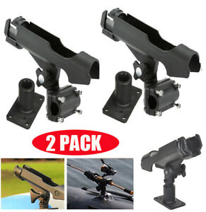 2PC-For-Kayak-Boat-Fishing-Pole-Rod-Holder-Tackle-Kit-Adjustable-Side-Rail-Mount