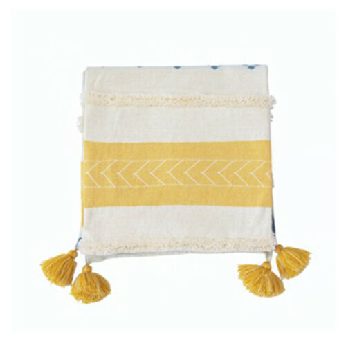 Details about  /Cotton Knitted Rectangle Blankets Office Sofa Bed Cover Nap Throw Blanket Decor