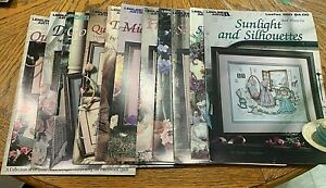 LEISURE ARTS Cross Stitch Pattern Leaflets YOU PICK 11 Choices Floral Spring