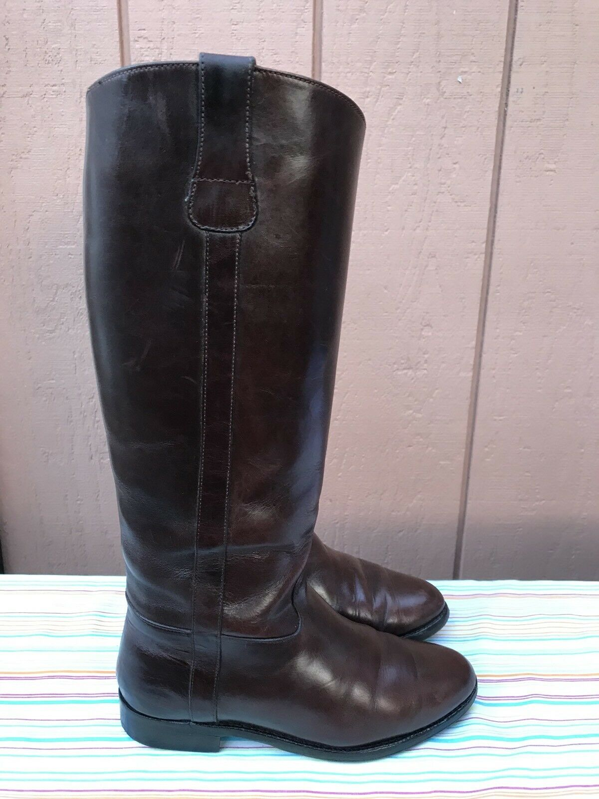 Cole Haan Country F9410 Women's Brown Leather Pull On Boots US 6 B