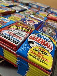 Huge-Lot-Of-Over-90-Unopened-Old-Vintage-Baseball-Cards-In-6-Wax-Packs