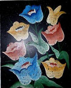 ORIGINAL-VINTAGE-FOLK-HAITIAN-ART-OIL-PAINTING-JONAS-LUNDY-HAITI-OWL-BIRD-08X10