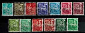 a41-timbres-preobliteres-France-n-106-118-neufs-annees-1953-1959