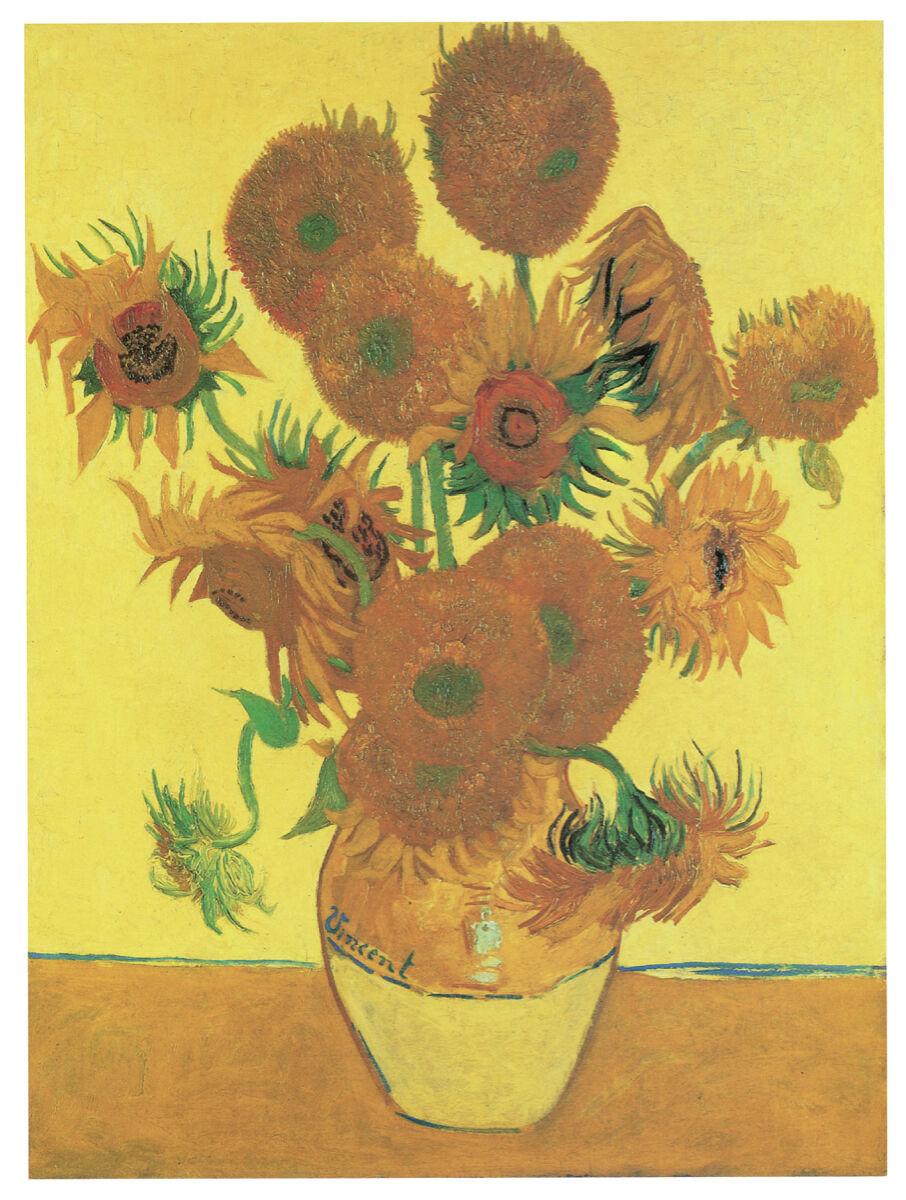 16x20 Decoration CANVAS.Interior room art.Van Gogh yellor flowers vase.6636
