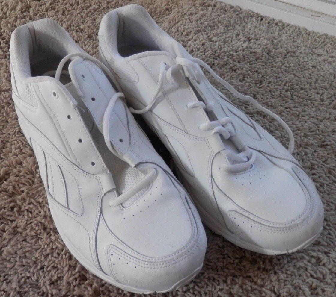 Reebok  Mens Ultra  DMX Max white  Walking Shoe 11.5 extra wide 4E
