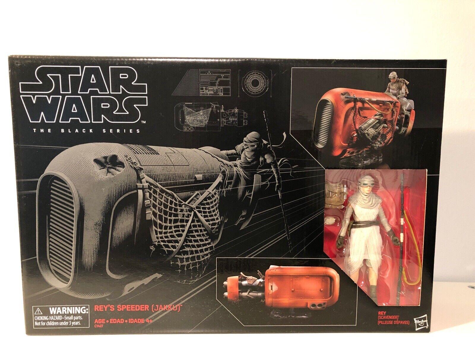Star Wars Black Series Scavenger Rey /& Jakku Speeder Action Figure
