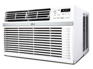 LG LW1516ER - 15,000 BTU 110V Window A/C: Remote & Window Accessories Included