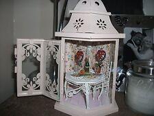 OOAK Dollhouse Miniature LANTERN with Light inside Love Romantic