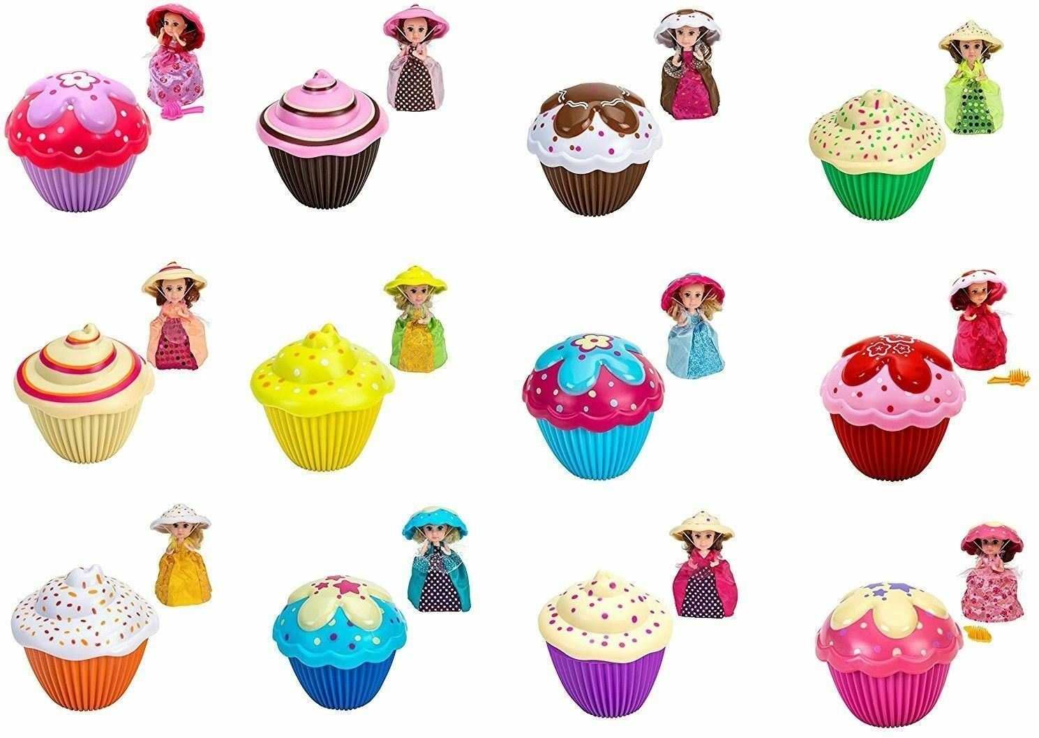 Lot of 12 Complete Set Transform Cupcake Surprise Scented MINI DOLLS