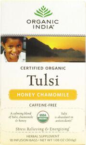 Honey Chamomile Tulsi Tea by Organic India, 18 tea bags