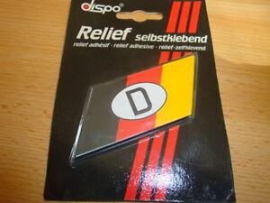 Details Zu Deutschland Aufkleber D Schwarz Rot Gold Relief Weltmeisterschaft Wm