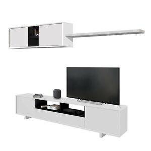 Mueble-de-comedor-salon-moderno-libreria-salon-tv-Blanco-y-Negro-Brillo-Belus