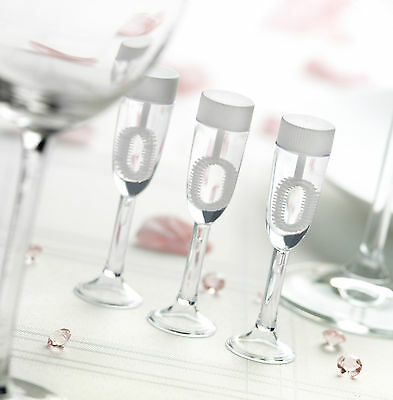 24 Champagne Glass Wedding Party Blowing Bubbles Favour Table Decoration