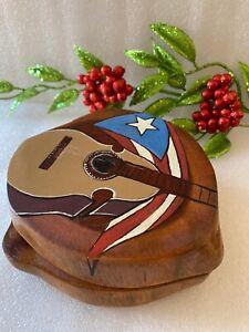 Tostonera Artesanal Cuatro Puerto Rico Madera: Guayacán (Handmade) Pieza única