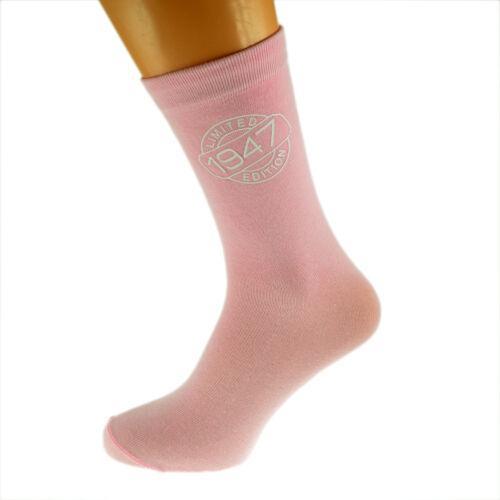 Limited Edition 1947 70th Birthday Ladies Pink Socks UK Size 4-8 X6N249-1947