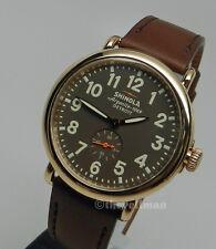 Men American Made Detroit Swiss Parts Shinola Runwell 41mm Gold Watch S0100070