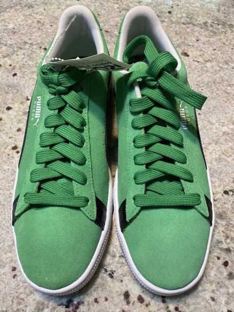Mens Suede Green And Black Puma Size 9.5