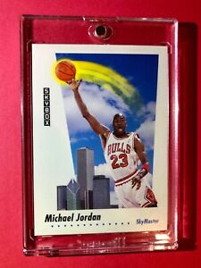Michael-Jordan-SKYBOX-SKYMASTER-SOARING-OVER-CHICAGO-1992-HOT-Mint-Condition