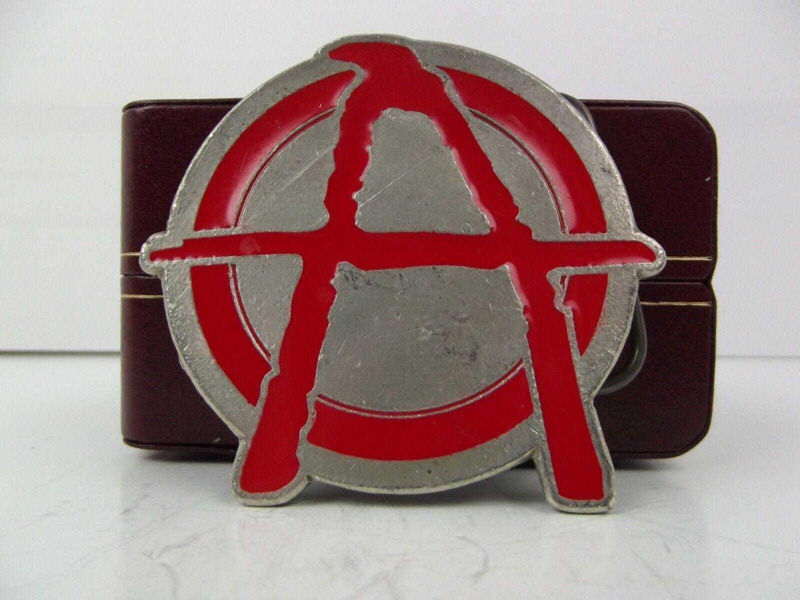 Anarchy Belt Buckle punk rock symbol signs