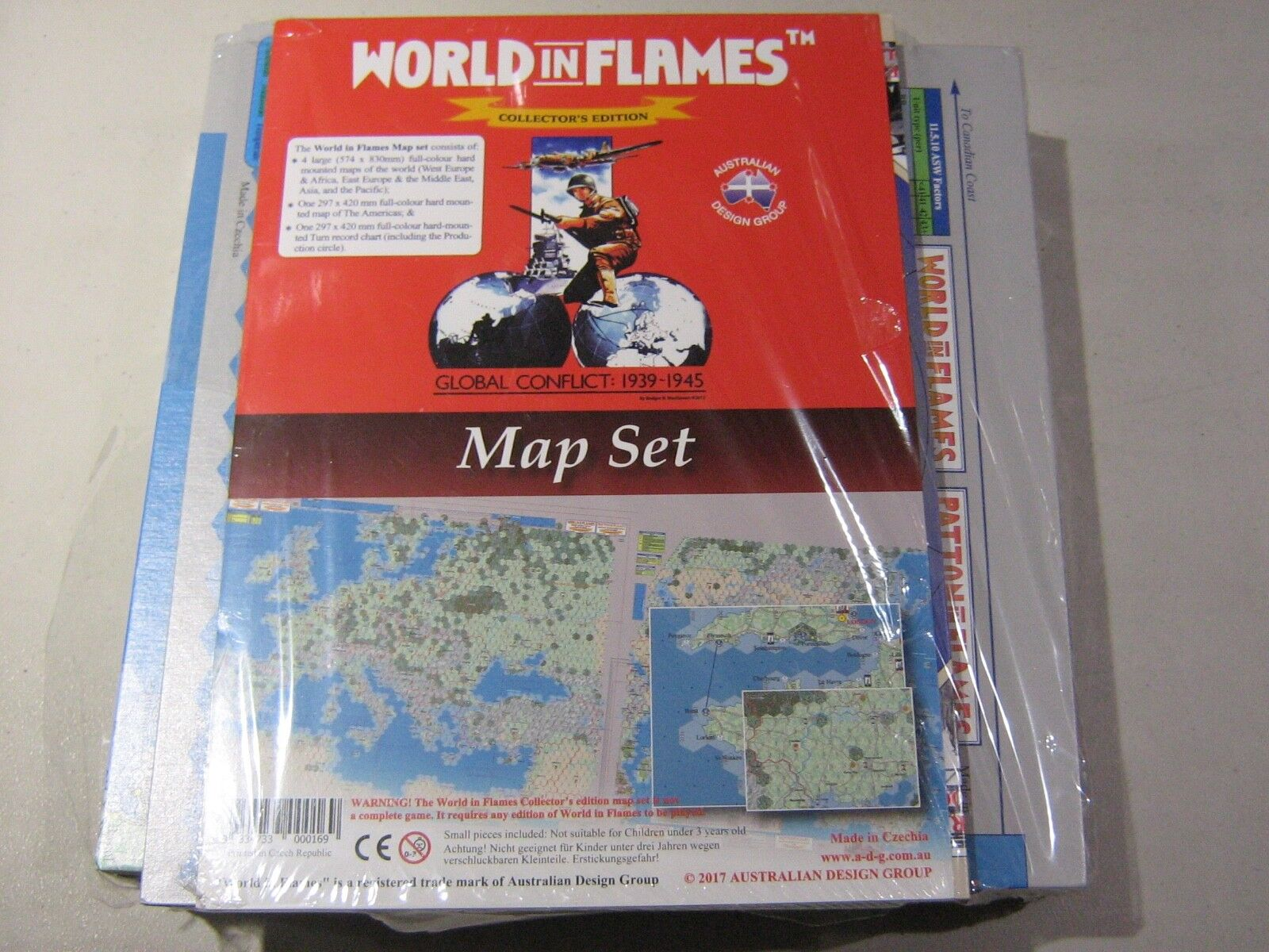 World in Flames Collector's Edition Map Set (New)