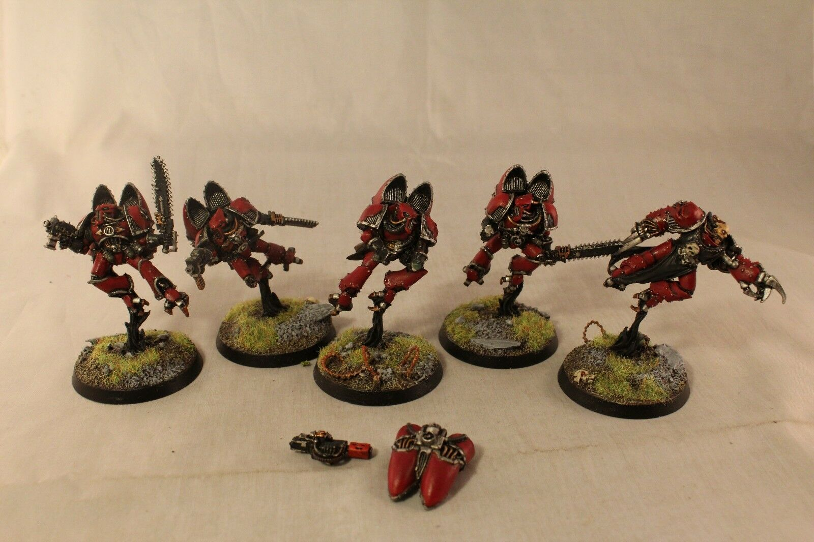 Warhammer Chaos Space Marine Raptors Well Well Well Painted c8667e