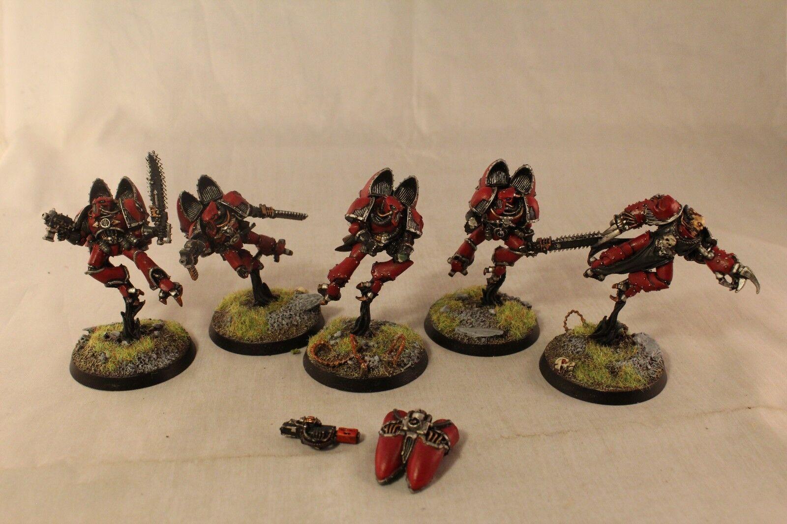 Warhammer Chaos Space Marine Raptors Well Painted