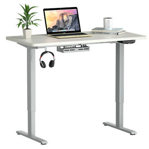 Costway Electric Standing Desk Sit to Stand Height Adjustable Table Dual Motor
