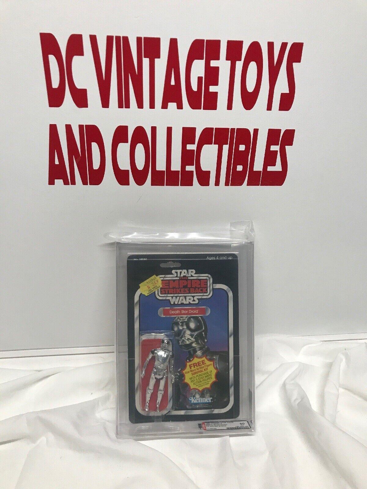 en stock Vintage 1980 1980 1980 Kenner Estrella Wars Estrella De La Muerte Droid Imperio Contraataca 41 autoridad Figura de Acción 80 error de fábrica  Ahorre 35% - 70% de descuento
