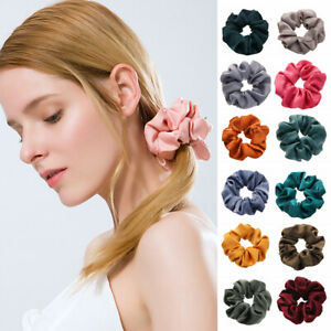 Ponytail-Holder-Elastic-Hair-Rope-Hair-Rubber-Bands-Satin-Hair-Scrunchies