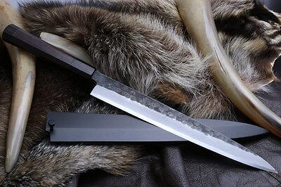 Hongasumi Hammered Black Forged Yanagi Sushi Sashimi Chef Knife/Nuri, YOSHIHIRO