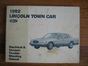 1992 Lincoln Town Car Wiring Diagram Service Electrical ...