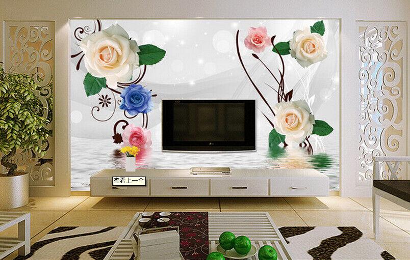 3D colord pink Sea 7 Wall Paper Murals Wall Print Wall Wallpaper Mural AU Lemon