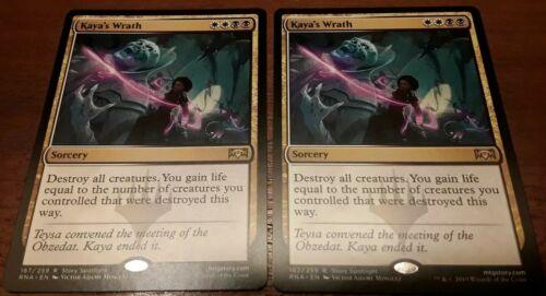 EN, M//NM MTG Kaya/'s Wrath x2