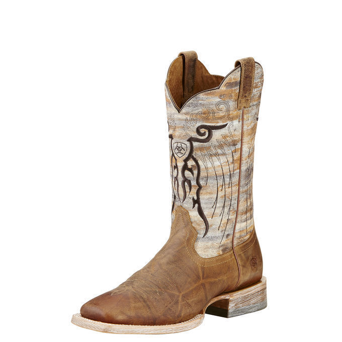 Ariat 10018306 Mesteno 12  Wide Square Toe Two Tone Tan Cowboy Riding Boots