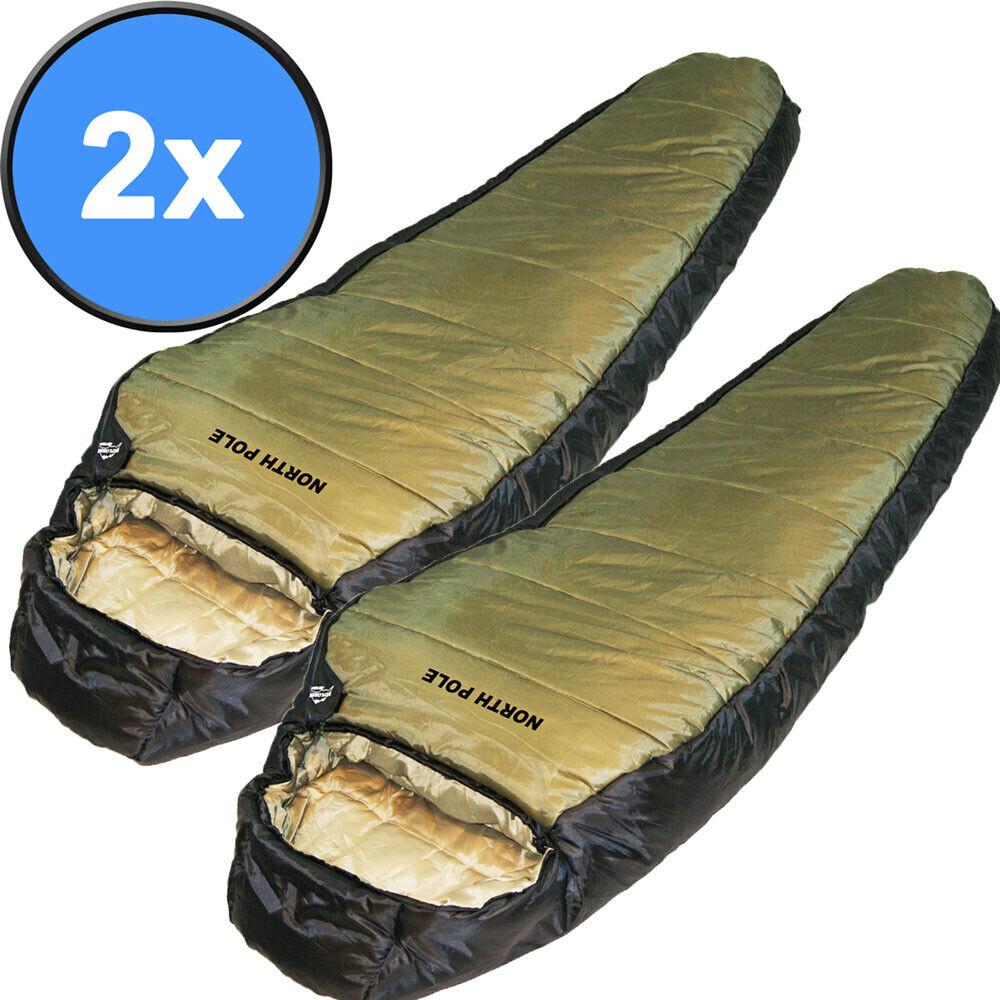 2x EXPLORER Schlafsack North Pole Winterschlafsack 2000mm Biwak Zelt XXL Comfort
