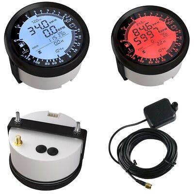 Universal GPS Tachometer Digitale Geschwindigkeitsmesser 85 mm Wasserdichter Tachometer Gps Tacho Motorrad Speed Meter Antibeschlagmesser 0-120 km//h f/ür PKW-LKW-Bootsmotor Silber