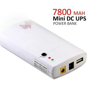 Details about 12V USB 2 way output power DC Mini Ups Power Supply 7800MAH