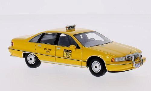 Wonderful modelcar CHEVROLET CAPRICE SEDAN TAXI NYC 1991 - jaune - scale 1 43