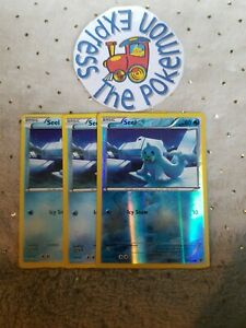 Pokemon-TCG-3x-Seel-15-124-1-rev-holo-Common-English-Fates-Collide-Mint-Water