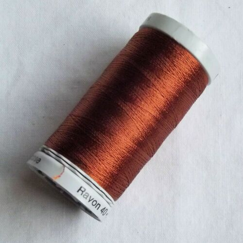 Machine Embroidery Gutermann Sulky Rayon 40 500m spools Brown Shades TC48